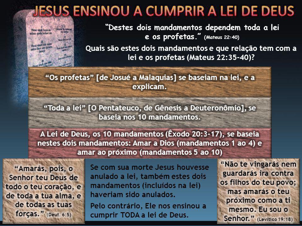 Os profetas [de Josué a Malaquias] se baseiam na lei, e a explicam.